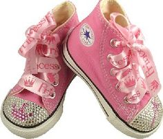 Blinged Out Baby Converse! I am so buying these if I ever have a granddaughter! :) #pink ☮k☮ #rosa