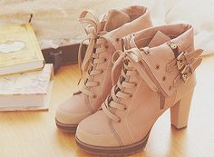 pink lace booties