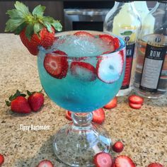 Tipsy Bartender - HOLY WATER 1 oz. (30ml) Vodka 1 oz. (30ml) Rum 1/2 oz. (15ml) Blue Curacao 1/2 oz. (15ml) Peach Schnapps 4 oz. (120ml) Lemonade Splash Pineapple Juice