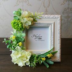 母の日ギフト/アートフラワーフォトフレーム(イエロー) Flower Boxes, Flower Frame, My Flower, Cold Porcelain Flowers, Wedding Prep, How To Preserve Flowers, Flower Crafts, Maid Of Honor, Flower Arrangements