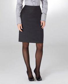 TM Lewin Charcoal Pencil Skirt