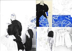 Fashion sketchbook pages central saint martins student 53 Ideas for 2019 Fashion Design Portfolio, Fashion Design Drawings, Fashion Sketches, Fashion Illustrations, Sketchbook Pages, Fashion Sketchbook, Sketchbook Ideas, Central Saint Martins, Fashion Collage