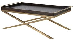 Black/Gold Tray Coffee Table