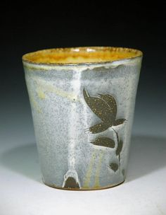 Micheal Kline- drinking cup with leaf