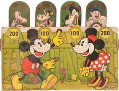 Mickey Mouse Shooting Game Target (Walt Disney, c. 1930s).