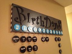 """I've never seen a """"birthday board"""" before...this would be a great idea for teachers! The O.C.D. Life"""