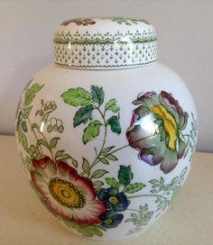 Vintage Ironstone Ginger Jar by Masons  Paynsley Pattern.