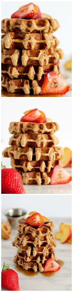 Banana Protein Waffles - Treat your family with these beautiful mini-waffles that taste just like banana bread and are packed with protein!: Banana Protein Waffles - Treat your family with these beautiful mini-waffles that taste just like banana bread and are packed with protein!