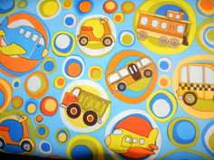 On The Go Cotton Fabric C3180 in Blue By Riley Blake