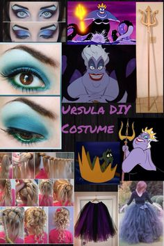 Homemade ursula costume all done in one night pinterest ursula complete diy ursula costume solutioingenieria Gallery