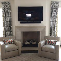 "sheri barringer designs on Instagram: ""#dallasdesign #interiordesign #custom #interior #design #dallas #fireplace #pillows #decor #homedecor #interiors #rug #leather #clubchairs"""