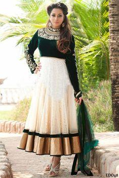The Ghauhar Anarkali Dress Traditional Partywear Embroidery Anarkali Dress