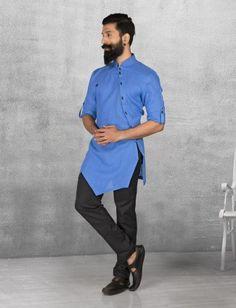 Shop Royal Blue color linen kurta suit online from India. Kurta Pajama Men, Kurta Men, Boys Kurta, Best Wedding Suits, Wedding Men, Wedding Ideas, Diy Wedding, Pathani Kurta, Pathani For Men