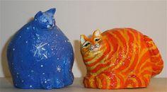 paper mache pumpkin container,cardbord  &paper mache sculptures