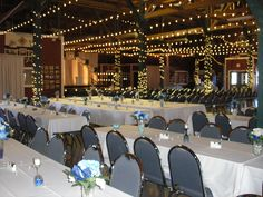Blue and White Delight  Venue setup for Ceremony and Reception to follow.