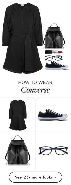 """""""A million years ago"""" by nycheart05 on Polyvore featuring Apiece Apart, Converse, Le Parmentier, EyeBuyDirect.com and MAC Cosmetics"""