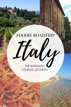 A guide for planning a unique romantic honeymoon or couples getaway in Italy. Get off the beaten path by taking a road trip through Italy and discover all the amazing food  and wine. Destinations: Tuscany & Sicily.
