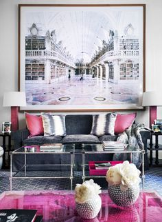 Inside a Posh Townhouse With Pops of Pink via @mydomaine