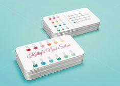 Custom Printable Nail Salon Business Card Template
