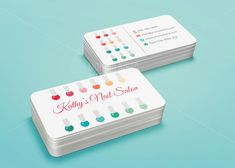 Custom Printable Nail Salon Business Card Template