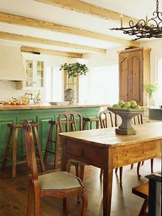 """""""Kitchen"""" --- I'd love to take these exposed wooden ceiling beams and put the in the kitchen I've pinned. Very rustic and country-French."""