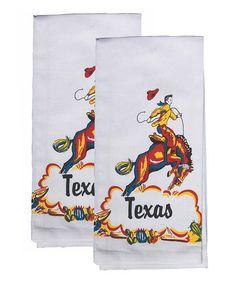 Look what I found on #zulily! 'Texas' Cowboy Kitchen Towel - Set of Two #zulilyfinds