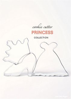 Princess Cookie Cutter Collection Set - 3 piece on Etsy, $5.95