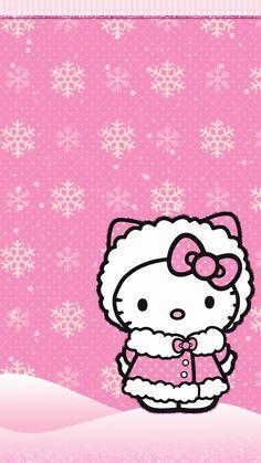 O Kitty Christmaso Kitty Wallpaper Kawaii Wallpapero Kitty Themeso