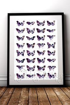 A kaleidoscope of skull butterflies who would be delighted to flutter upon your wall #RockChicBoutique #Skulls #Butterfly #WallArt