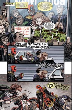 WRONG. He's a Hufflepuff, according to actual Marvel canon.   This Deadpool Comic Reveals The Merc With The Mouth's Hogwarts House