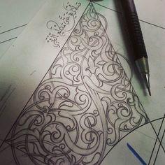 .. فليس المرء يولد عالما .... #islamic_art #floralpatterns #arabesque #arttraditionnel #morocco