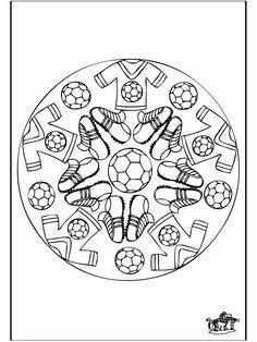 Kleurplaten Voetbal Mandala.57 Beste Afbeeldingen Van Voetbal Kleurplaten Coloring Pages