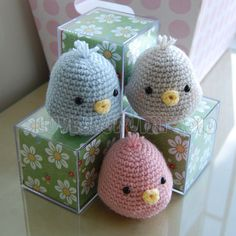 *IMPORTANT NOTE* - This is a crochet pattern, not the completed toy.  Tweet tweet! Birdies are so very sweet!  This pattern is easy to follow but