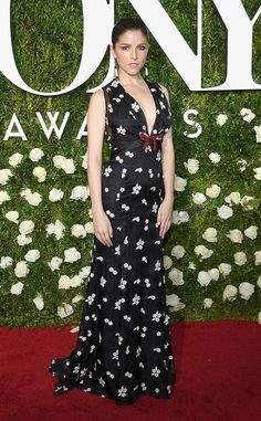 Anna Kendrick from 2017 Tony Awards Red Carpet Arrivals The actress was blooming in a floral print frock.