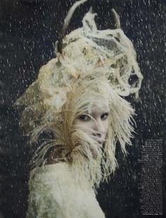 """Family Circus"" | Models: Lindsey Wixson, Arizona Muse, Anais Pouliot, Britt Maren, Photographer: Paolo Roversi, W Magazine, December 2010"