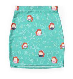 """Ariel Pattern"" Pencil Skirts by LaurasLovelies | Redbubble"