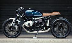 BMW R Nine T by Clutch Custom Motorcycles right side quarter