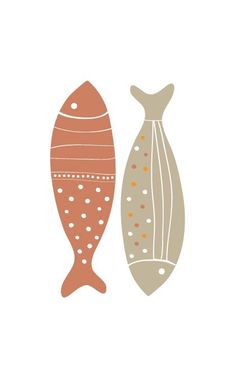 Colorful Fish Print Pokka Dot - Earth Beige - Wedding Birthday Anniversary GIft Children Kids Wall poster. $18.00, via Etsy.