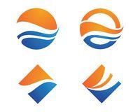 Ocean beach wave logo Royalty Free Stock Image