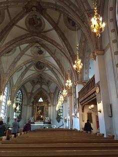 Inne i Klara kyrka