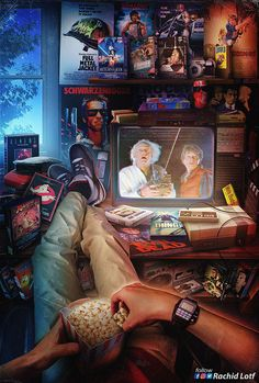 Entertainment Discover wallpaper Back to the Future Turkey on Instagr - Retro Kunst Retro Art Iconic Movies Arte Do Hip Hop Digital Foto Arte Horror Gaming Wallpapers Retro Waves Arte Pop