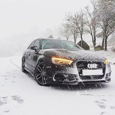 Snowchaser = quattro - Audi S3 #quattroseason #quattrowinter ---- oooo #audidriven - what else  @marc_xs300 ---- #Audi #S3 #4rings #AudiS3 #quattro #S3sedan #AudiS3sedan #igersvienna #drivenbyvorsprung #quattroGmbH #winter #snow #ice #snowstorm #snowchaser