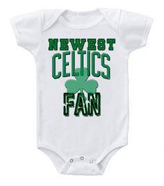05cd1c736 NEW Basketball Baby Bodysuits Creeper NBA Boston Celtics Newest Fan  3