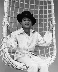 Taken at Michael's very first Motown photo session in 1969, this photo shows his natural cheek bones, almond shaped eyes and his love for hats. Photo by David Alston's Mahogany Archives.