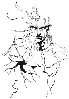 Snake Torso Sketch, Metal Gear Solid 1