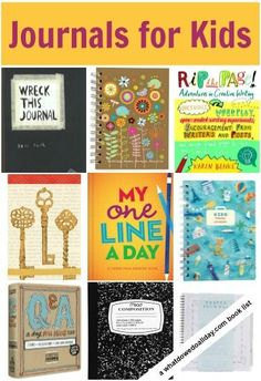 Encourage kids' writing by giving them their very own journal.