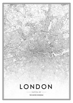 Black and white London map. - LondonCard poster black and whiteBlack and white London map. - LondonCard poster black and whiteLondon Map Print by EvelynHenson on EtsyLondon Map Print by EvelynHenson City Map Poster, World Map Poster, Map Posters, London Map, London City, Buda Wallpaper, Close Up Poster, Photo Pop Art, Love One Another Quotes