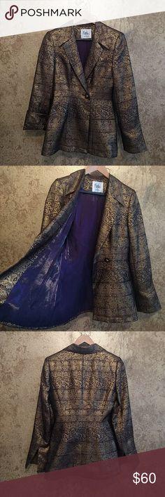 Bob Mackie Blazer My Prince Blazer! Purple and Gold, barely worn. It's Majestic. Bob Mackie Jackets & Coats Blazers