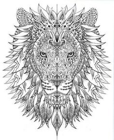 Lion tribal art