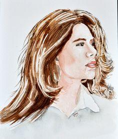 My beautiful cousin,Maria Claudia. Watercolours, Daenerys Targaryen, Game Of Thrones Characters, Portraits, Fictional Characters, Beautiful, Faces, People, Head Shots